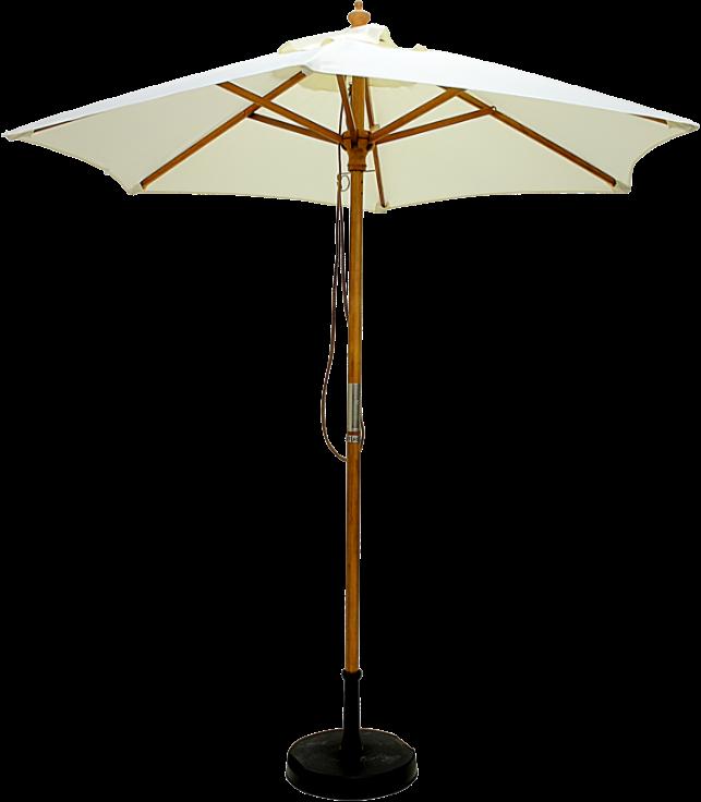 A white parasol